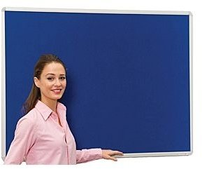 Spaceright Sunsafe Aluminium Framed Noticeboard - 1200 x 1200mm