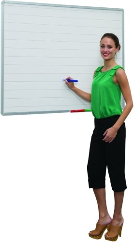 Spaceright 75mm Line Markings Writing White Boards - 1200 x 900mm