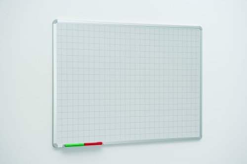 Spaceright 50mm Square Markings Writing White Boards - 1200 x 1200mm