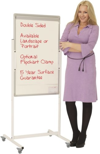 Spaceright Portrait Non-Magnetic Mobile Writing White Boards - 900 x 1200mm