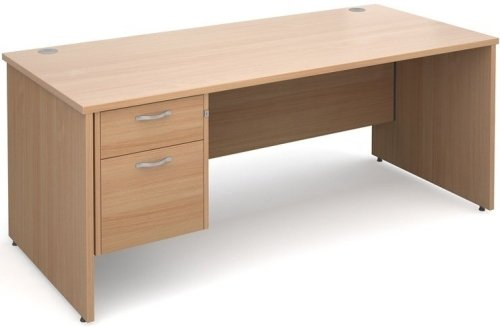 Dams Maestro Rectangular Desk with Panel End Leg & 2 Drawer Pedestal - (w) 1800mm x (d) 800mm