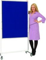 Spaceright Portrait Mobile Noticeboard - 900 x 1200mm