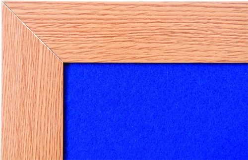 Spaceright Eco Friendly Wood Effect Framed Noticeboard - 1200 x 900mm