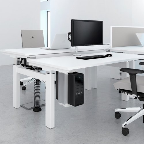Elite Progress Electric Double Bench Height Adjustable Sit & Stand Desk MFC 1800 x 1600mm
