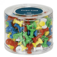 Gopak Tub of 200 Coloured Push Pins