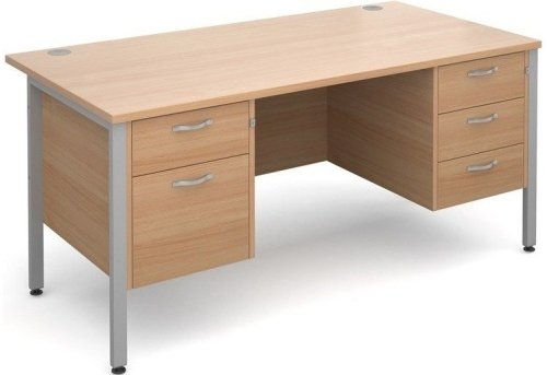 Dams Maestro 25 H-Frame Rectangular Desk with 4 Shallow & 1 Filing Drawer - (w) 1600mm x (d) 800mm