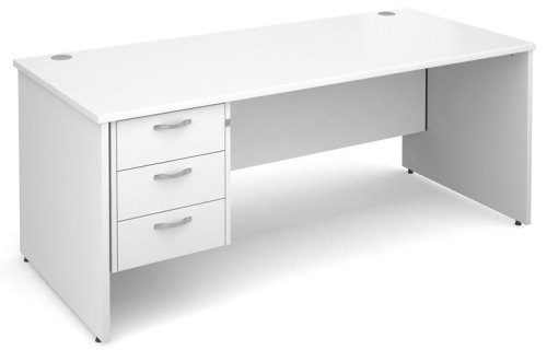 Dams Maestro Rectangular Desk with Panel End Leg & 3 Drawer Pedestal - (w) 1200mm x (d) 800mm