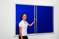 Spaceright Safety Locking Noticeboards 2400 x 1200mm