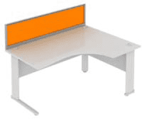 Elite System Desk Mounted Acrylic Screen - Width 1973mm