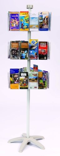 Spaceright Carousel Freestanding Leaflet Dispensers 36 x 1/3 A4