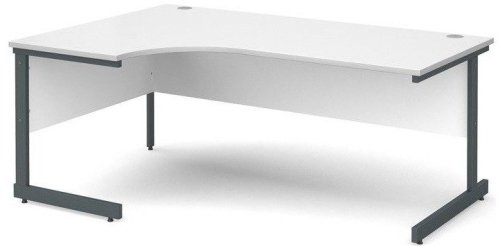 Dams Corner Desk with Single Cantilever Legs - (w) 1800mm x (d) 1200mm