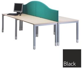 TC Office Lyle Desk Mounted Screen - Wave Top 1200mm