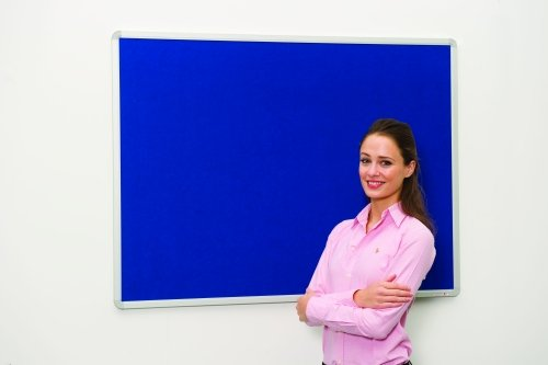 Spaceright Decorative Aluminium Framed Noticeboard - 900 x 600mm