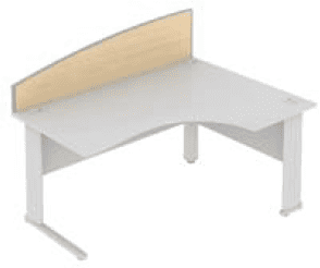 Elite Desk Mounted Curved System Screen MFC - Width 1773mm