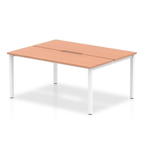 Gentoo Bulk Bench Desk, Pod of Two, Back to Back - (w) 1200mm x (d) 1600mm