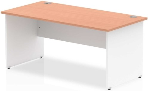 Gentoo Two-Tone Rectangular Desk with Panel End Legs - (w) 1600mm x (d) 600mm