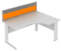 Elite System Desk Mounted Acrylic Screen With Management Rail 773mm Width