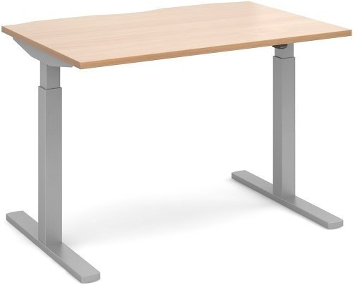 Dams Height Adjustable Electronic Single Desk - (w) 1200mm x (d) 800mm