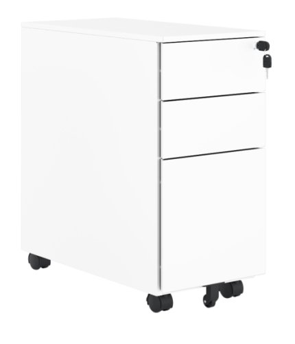 Elite 3 Drawer Narrow Mobile Steel Pedestal