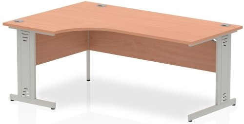 Gentoo Corner Desk with Cable Managed Legs - (w) 1800mm x (d) 1200mm