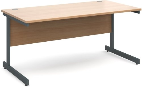 Dams Contract 25 Rectangular Desk with Single Cantilever Leg - (w) 1200mm x (d) 800mm