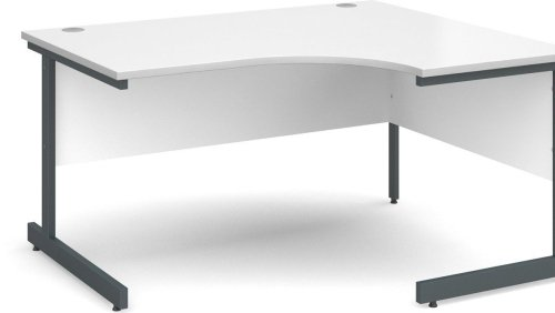 Dams Corner Desk with Single Cantilever Legs - (w) 1400mm x (d) 1200mm