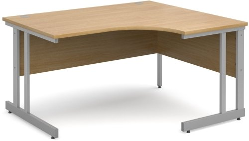 Dams Corner Desk with Twin Cantilever Legs - (w) 1400mm x (d) 1200mm