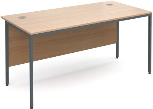 Dams Maestro H-Frame Rectangular Desk with Back Modesty Panel - (w) 1532mm x (d) 746mm