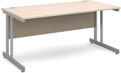 Dams Momento Rectangular Desk with Twin Cantilever Legs - (w) 1800mm x (d) 800mm