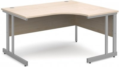 Gentoo Corner Desk with Twin Cantilever Legs - (w) 1600mm x (d) 1200mm