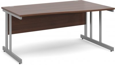 Gentoo Wave Desk with Twin Cantilever Legs - (w) 1600mm x (d) 800mm-1000mm