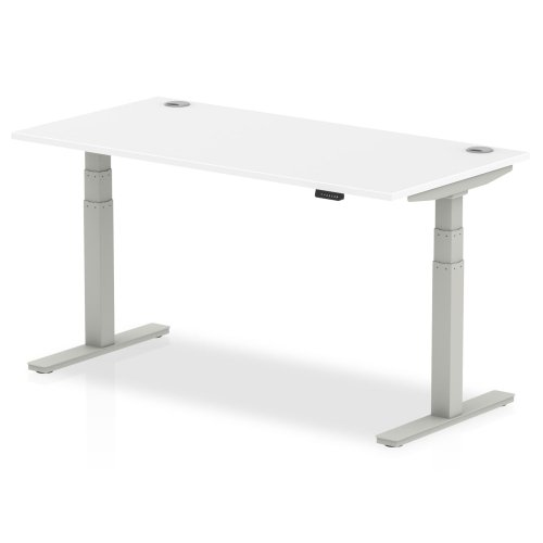 Gentoo Air Height Adjustable Desk with Cable Port - (w) 1600mm x (d) 800mm