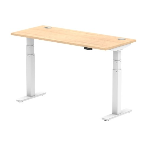 Gentoo Air Height Adjustable Desk with Cable Port - (w) 1400mm x (d) 600mm