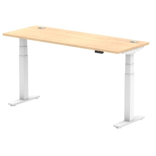 Gentoo Air Height Adjustable Desk with Cable Port - (w) 1600mm x (d) 600mm