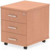 Gentoo Bulk Mobile Pedestal 3 Drawers - (w) 430mm x (d) 500mm