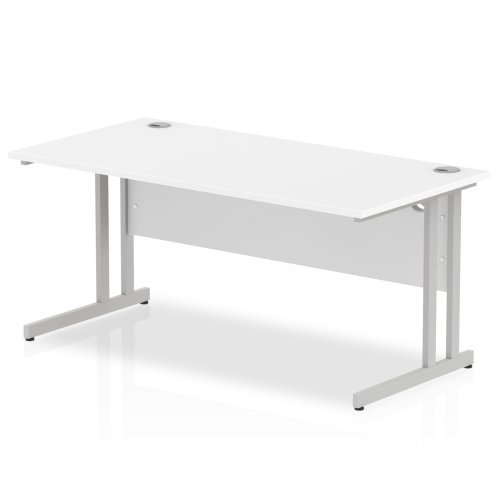 Gentoo Rectangular Desk with Twin Cantilever Legs - (w) 1600mm x (d) 800mm