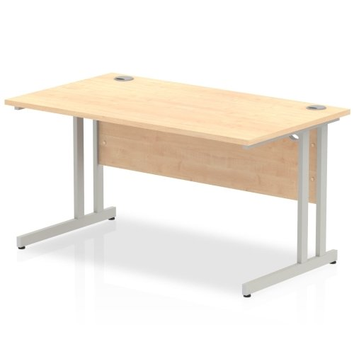 Gentoo Rectangular Desk with Twin Cantilever Legs - (w) 1400mm x (d) 800mm