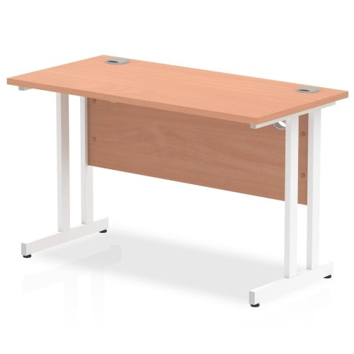 Gentoo Rectangular Desk with Twin Cantilever Legs - (w) 1200mm x (d) 600mm
