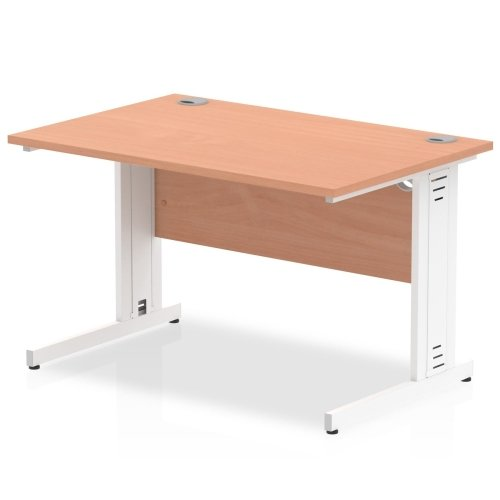 Gentoo Rectangular Desk with Cable Managed Legs - (w) 1200mm x (d) 800mm