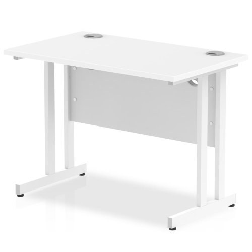 Gentoo Rectangular Desk with Twin Cantilever Legs - (w) 1000mm x (d) 600mm