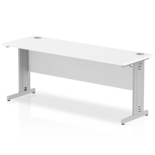 Gentoo Rectangular Desk with Cable Managed Legs - (w) 1800mm x (d) 600mm