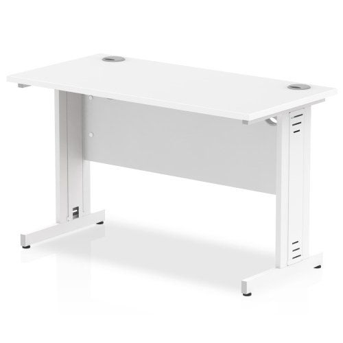 Gentoo Rectangular Desk with Cable Managed Legs - (w) 1200mm x (d) 600mm