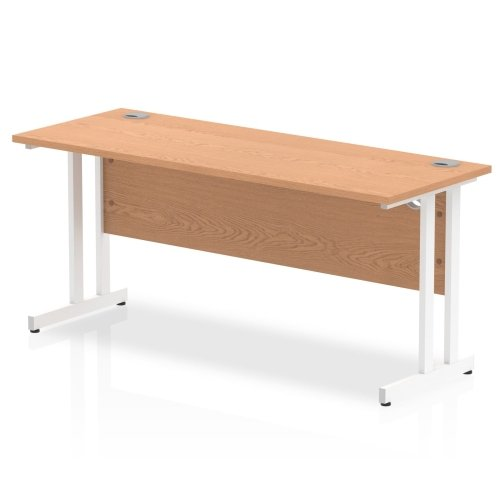 Gentoo Rectangular Desk with Twin Cantilever Legs - (w) 1600mm x (d) 600mm