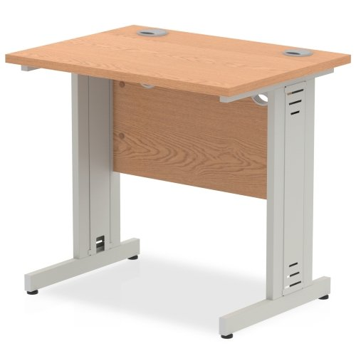 Gentoo Rectangular Desk with Cable Managed Legs - (w) 800mm x (d) 600mm