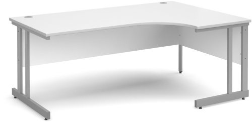 Dams Corner Desk with Twin Cantilever Legs - (w) 1800mm x (d) 1200mm