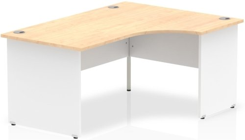 Gentoo Two-Tone Corner Desk with Panel End Legs - (w) 1600mm x (d) 1200mm