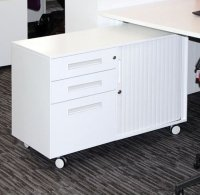 Metalicon Spectrum Mobile Caddy Unit 2 Personal Drawers 1 File Drawer Shelf Tambour Cupboard (Left Hand)
