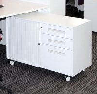 Metalicon Spectrum Mobile Caddy Unit 2 Personal Drawers 1 File Drawer Shelf Tambour Cupboard (Right Hand)