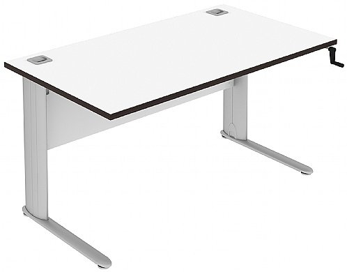 Elite Optima Plus Rectangular Height Adjustable Desk MFC - W1600 x D600 x H650-850mm