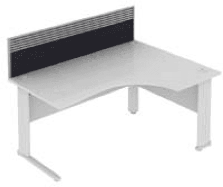 Elite System Desk Mounted Fabric Screen With Management Rail 973mm Width